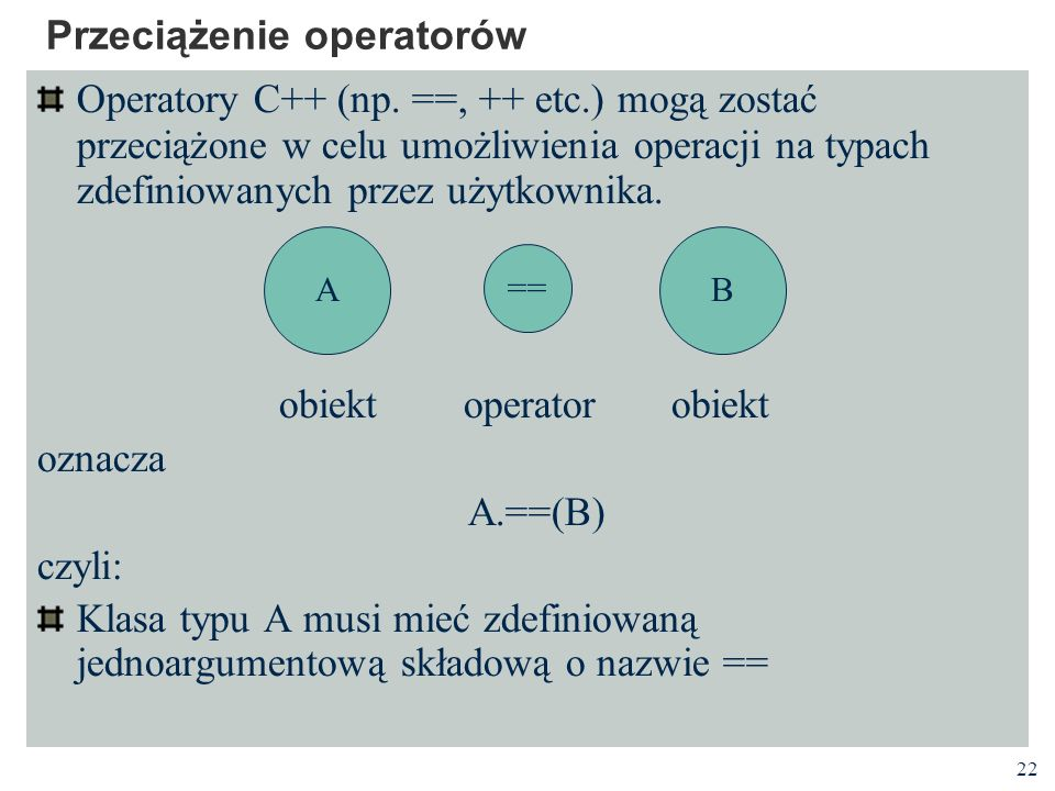 Przeciążenie operatorów