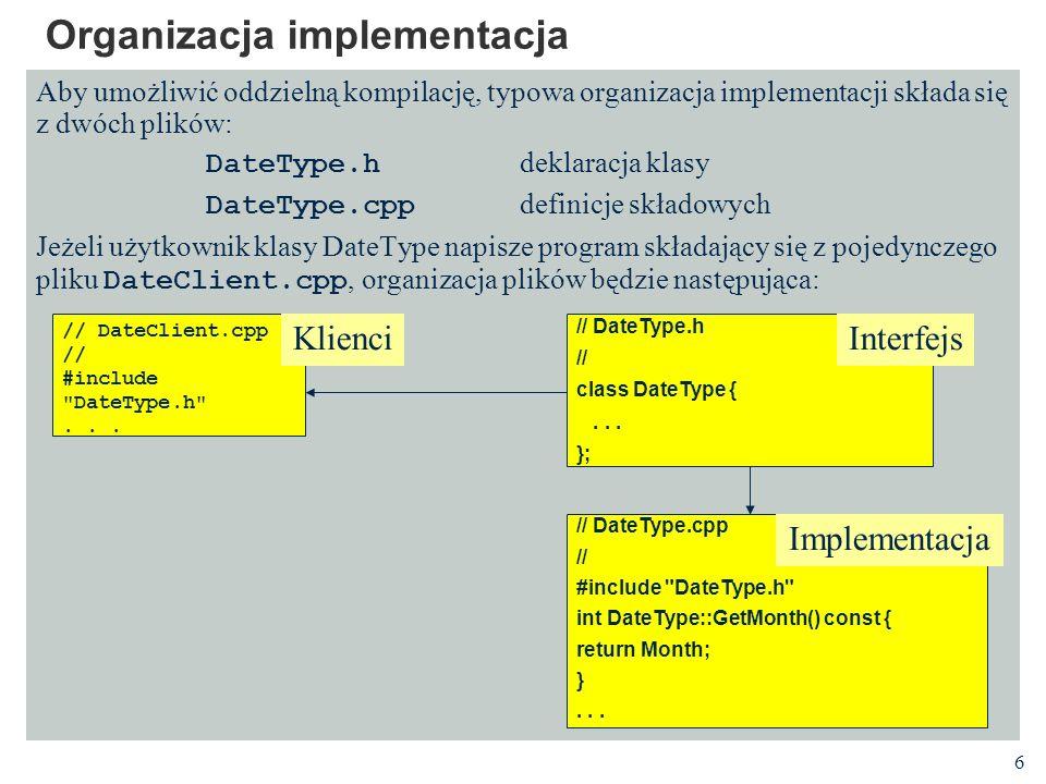 Organizacja implementacja