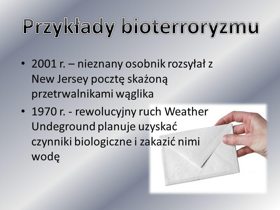 Przykłady bioterroryzmu