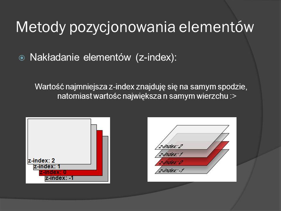 Metody pozycjonowania elementów