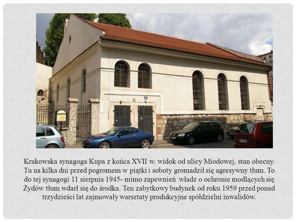 Krakowska synagoga Kupa z końca XVII w