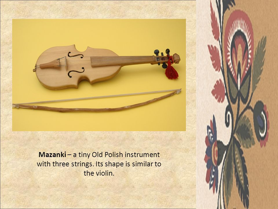 Mazanki – a tiny Old Polish instrument with three strings