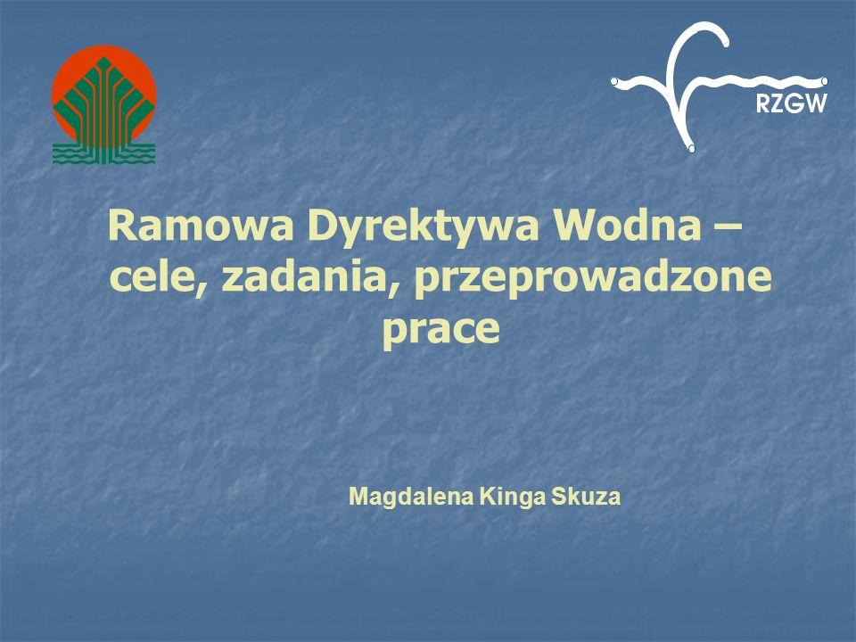 Ramowa Dyrektywa Wodna – cele, zadania, przeprowadzone prace