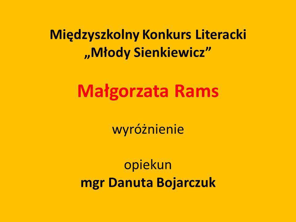 Międzyszkolny Konkurs Literacki