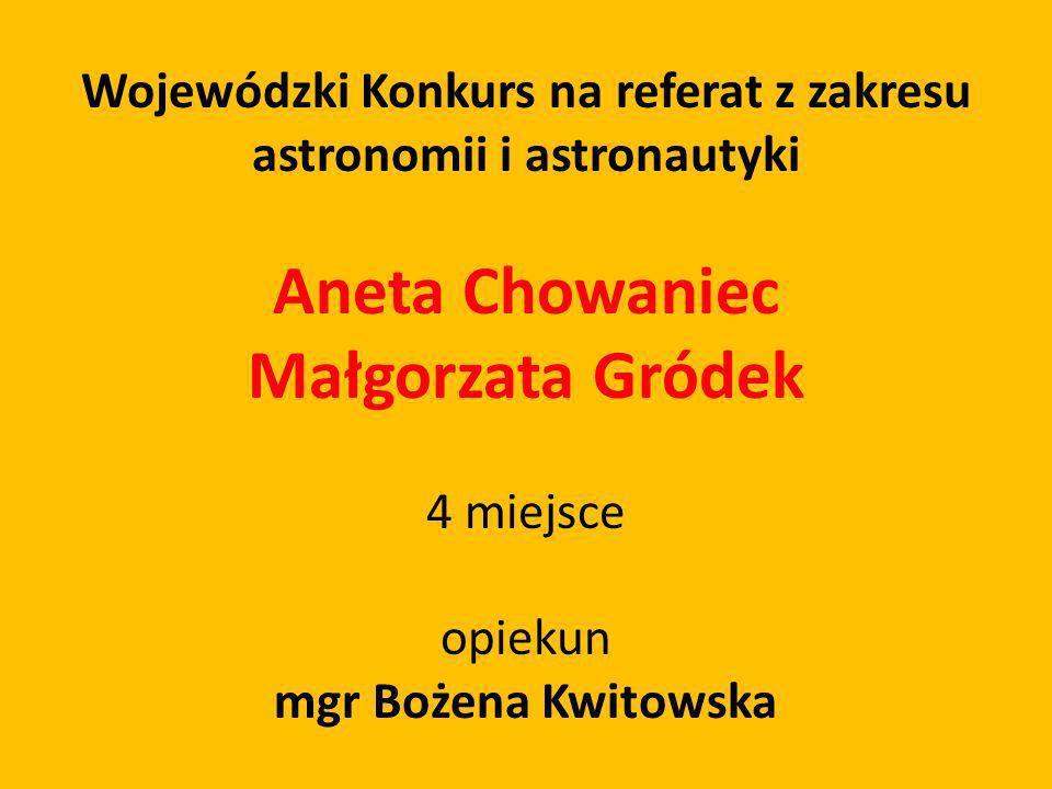Wojewódzki Konkurs na referat z zakresu astronomii i astronautyki