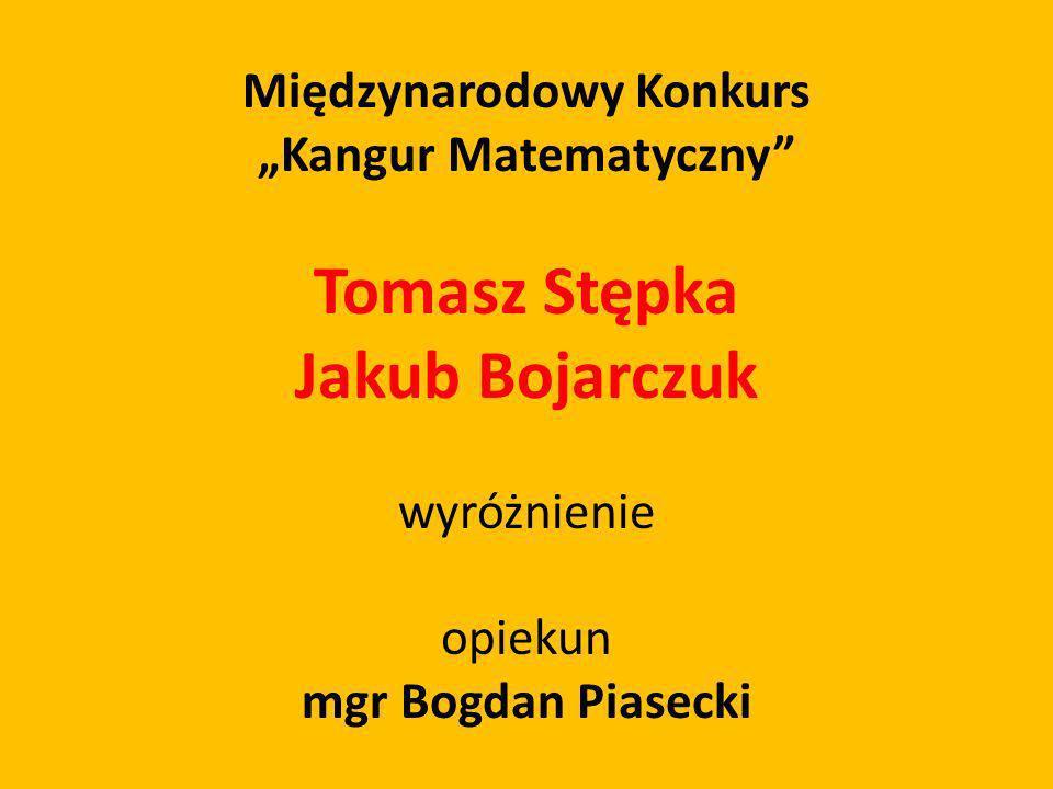 """Międzynarodowy Konkurs """"Kangur Matematyczny"""