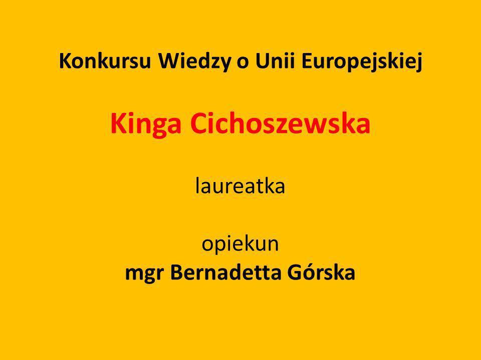 Konkursu Wiedzy o Unii Europejskiej