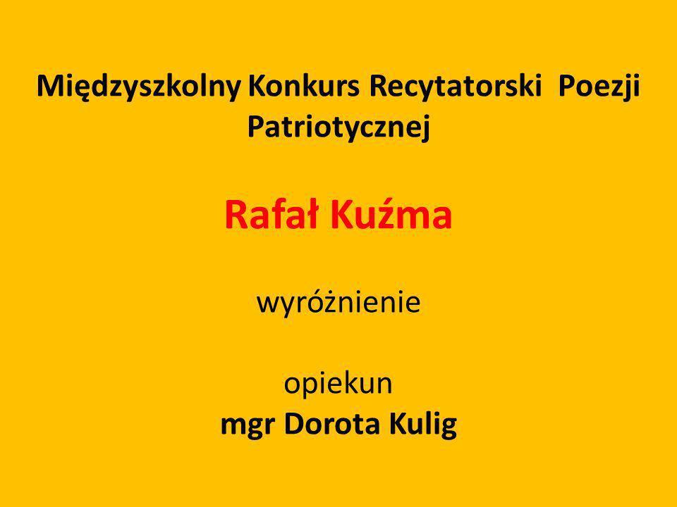 Międzyszkolny Konkurs Recytatorski Poezji Patriotycznej