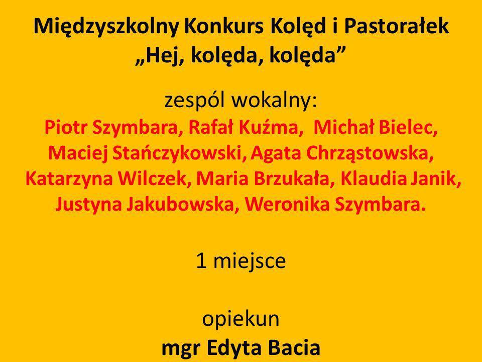 """Międzyszkolny Konkurs Kolęd i Pastorałek """"Hej, kolęda, kolęda"""