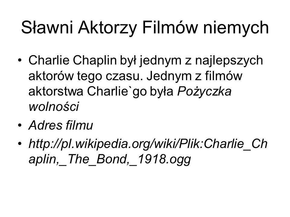Sławni Aktorzy Filmów niemych
