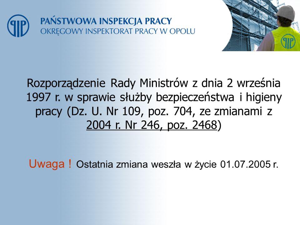 Rozporządzenie Rady Ministrów z dnia 2 września 1997 r