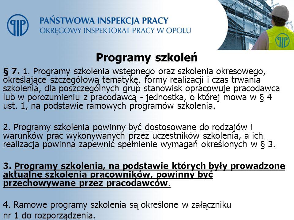 Programy szkoleń