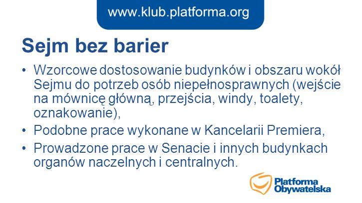 Sejm bez barier