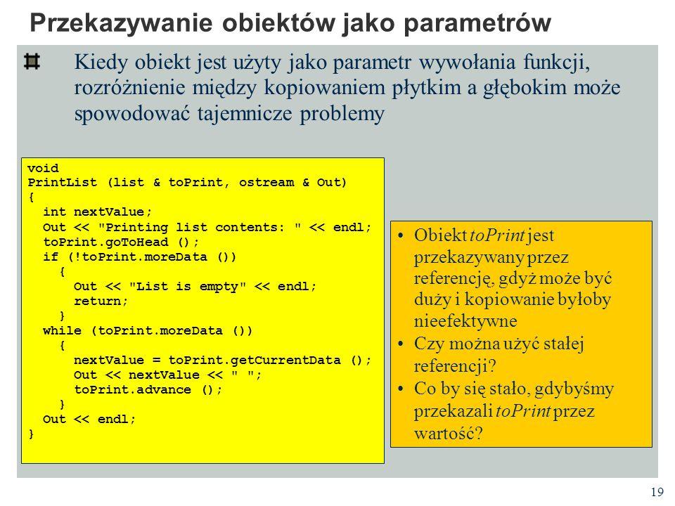 Przekazywanie obiektów jako parametrów
