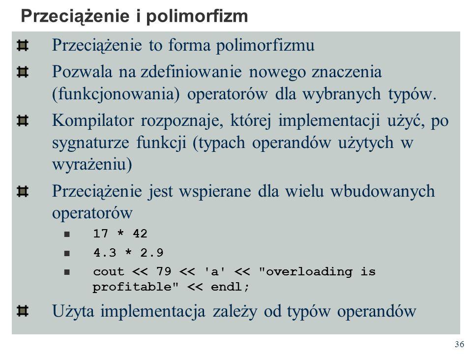 Przeciążenie i polimorfizm