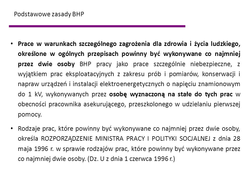Podstawowe zasady BHP