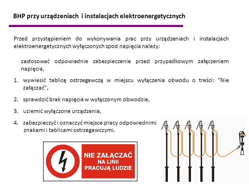 BHP przy urządzeniach i instalacjach elektroenergetycznych