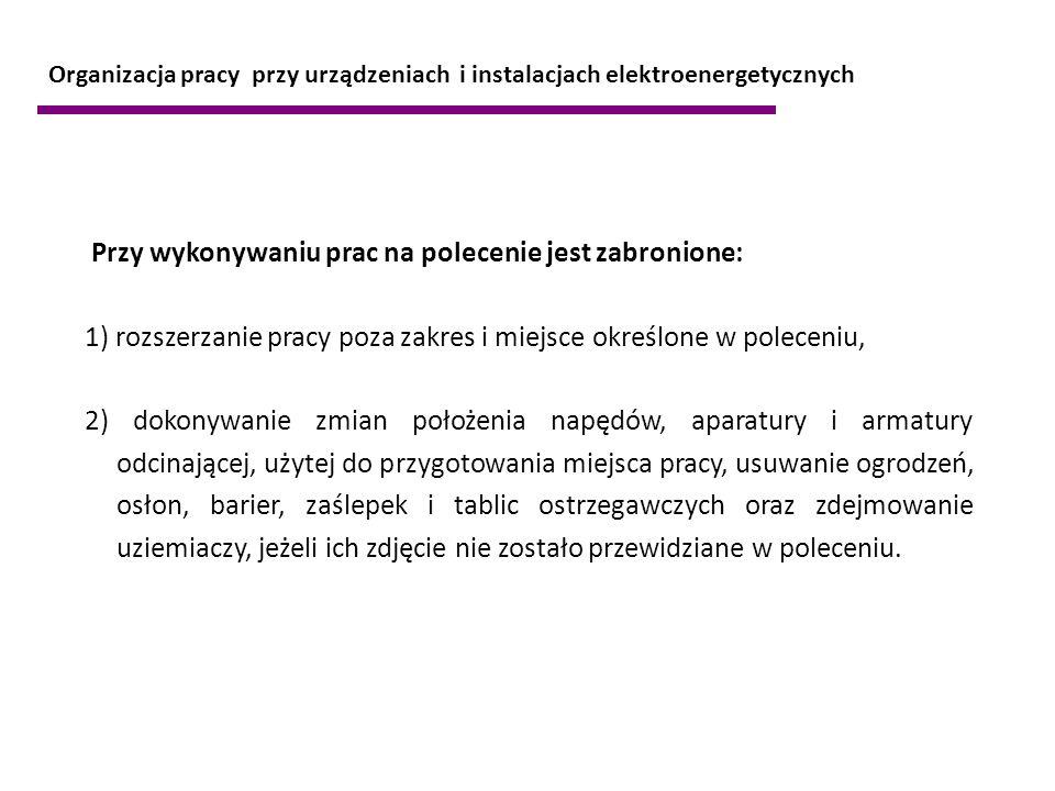 Przy wykonywaniu prac na polecenie jest zabronione: