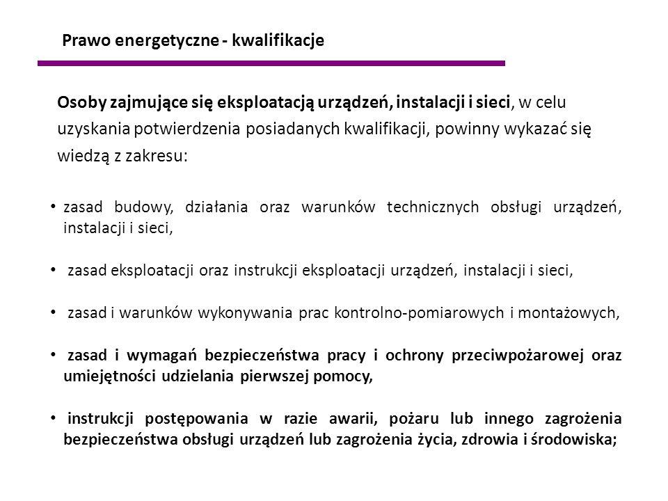 Prawo energetyczne - kwalifikacje