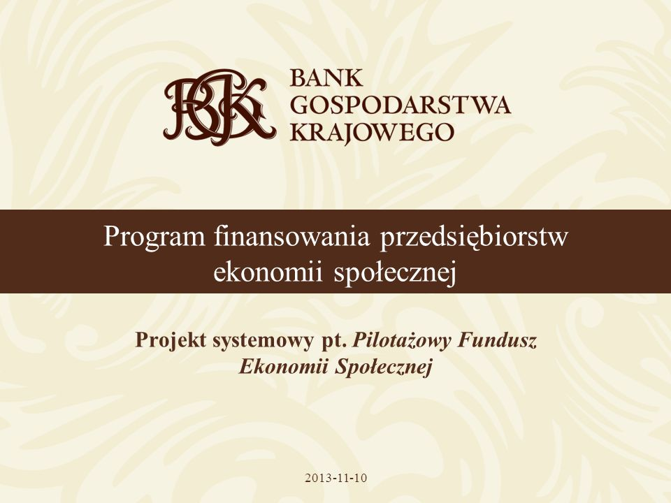 Program finansowania przedsiębiorstw ekonomii społecznej