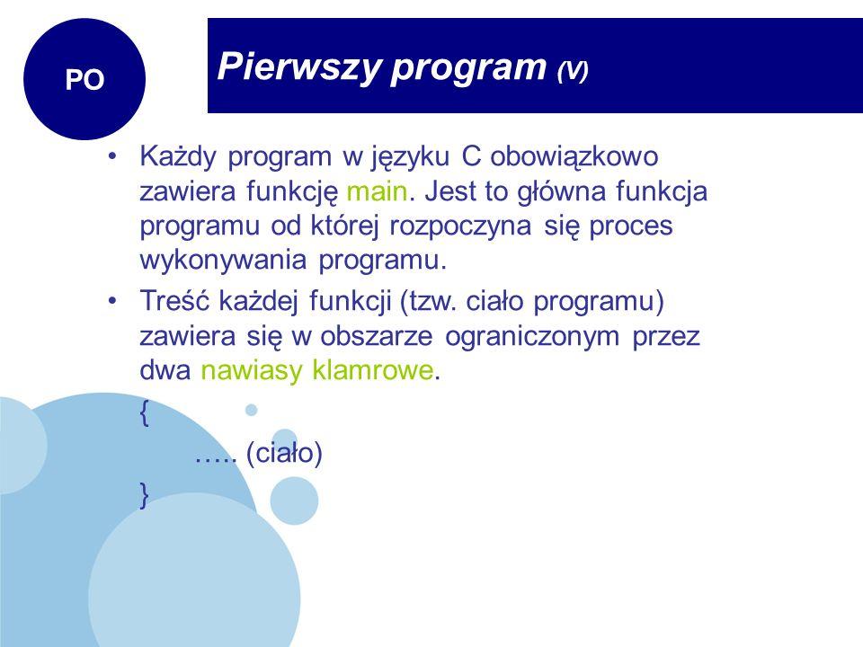 Pierwszy program (V) PO