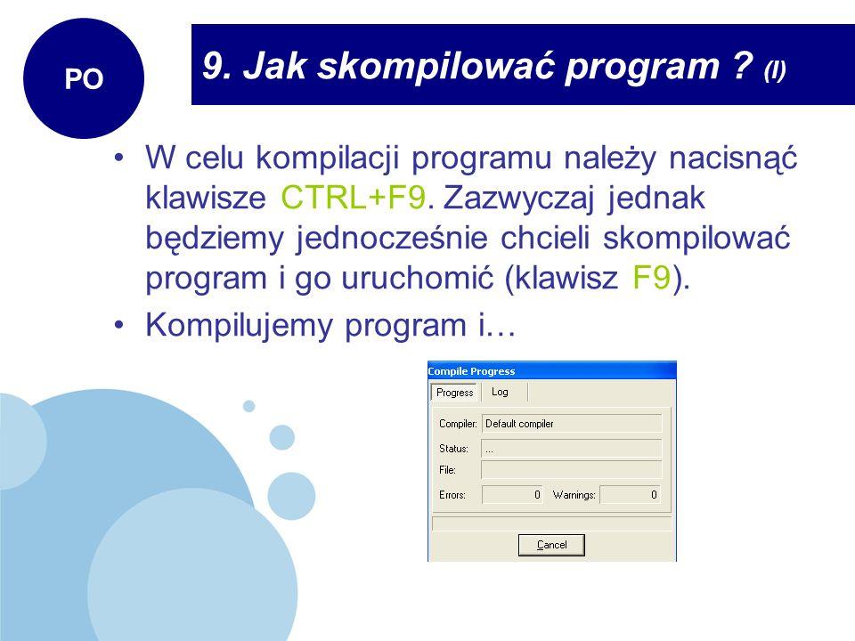 9. Jak skompilować program (I)
