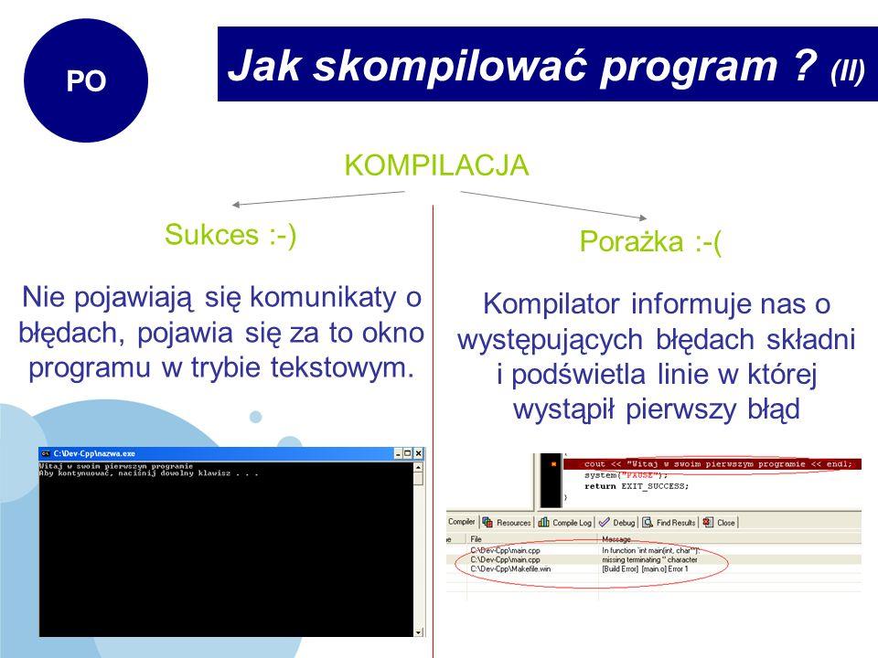 Jak skompilować program (II)