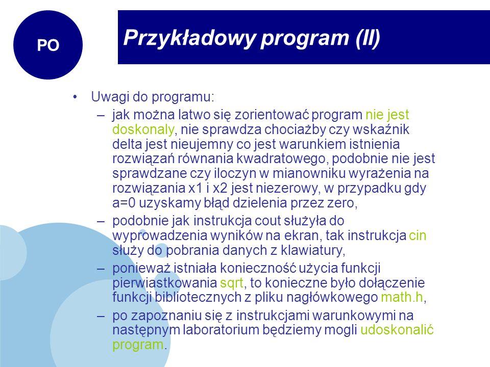 Przykładowy program (II)