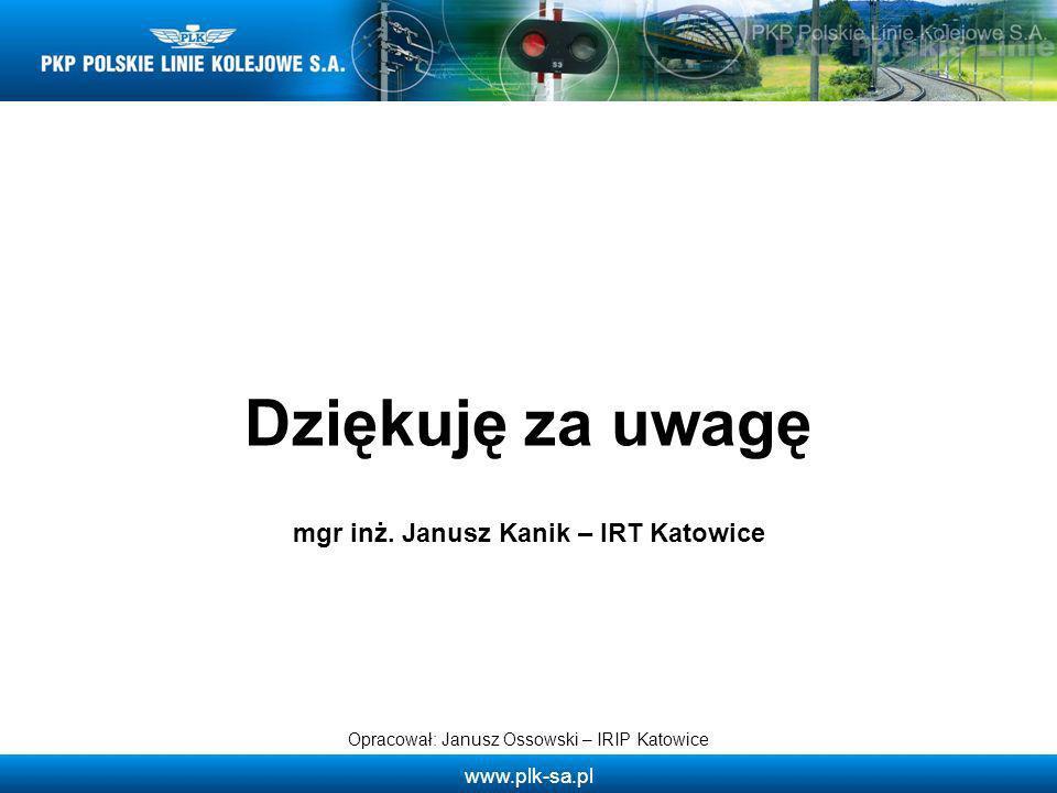mgr inż. Janusz Kanik – IRT Katowice
