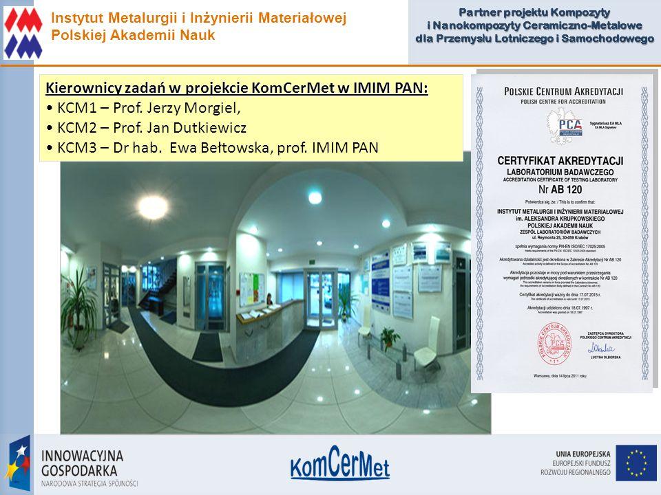 Kierownicy zadań w projekcie KomCerMet w IMIM PAN: