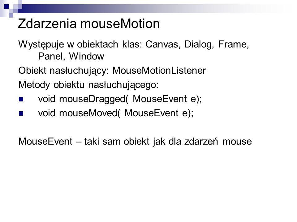 Zdarzenia mouseMotion