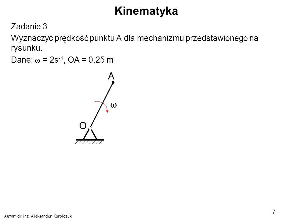 Kinematyka A w O Zadanie 3.