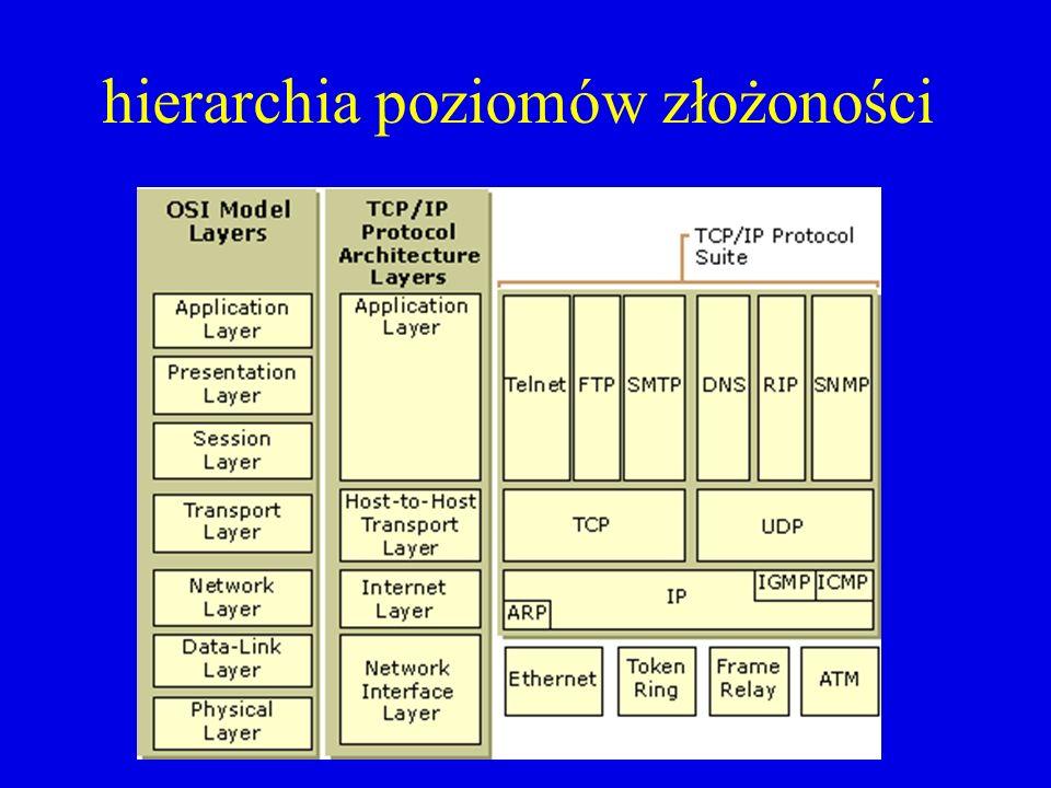 hierarchia poziomów złożoności