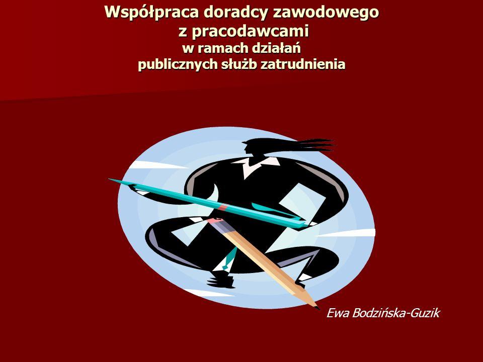 Współpraca doradcy zawodowego z pracodawcami w ramach działań publicznych służb zatrudnienia