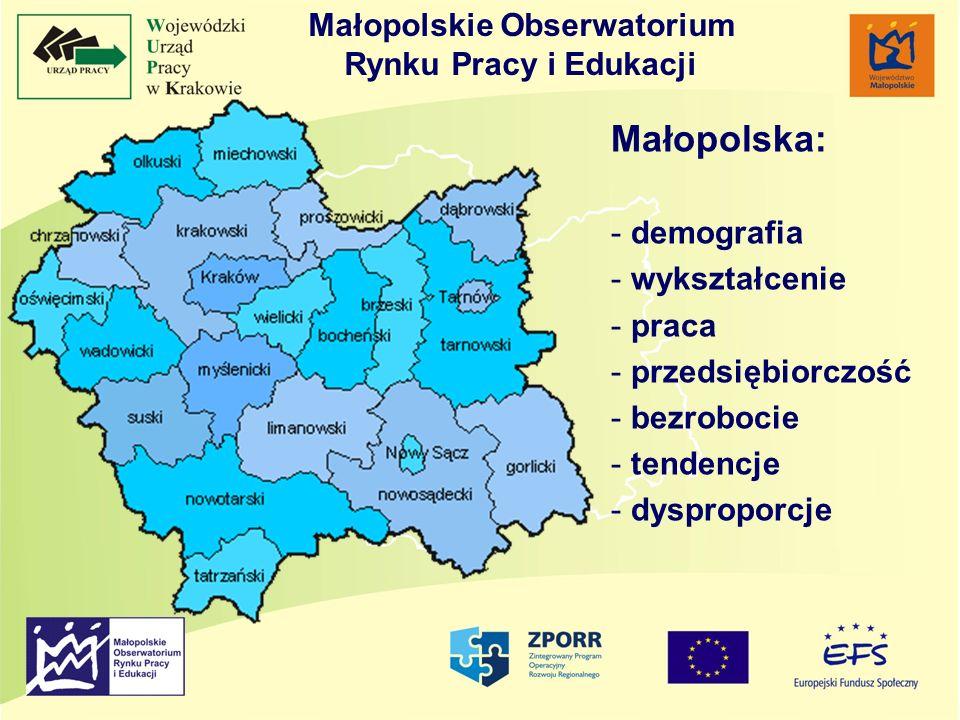 Małopolska: Małopolskie Obserwatorium Rynku Pracy i Edukacji
