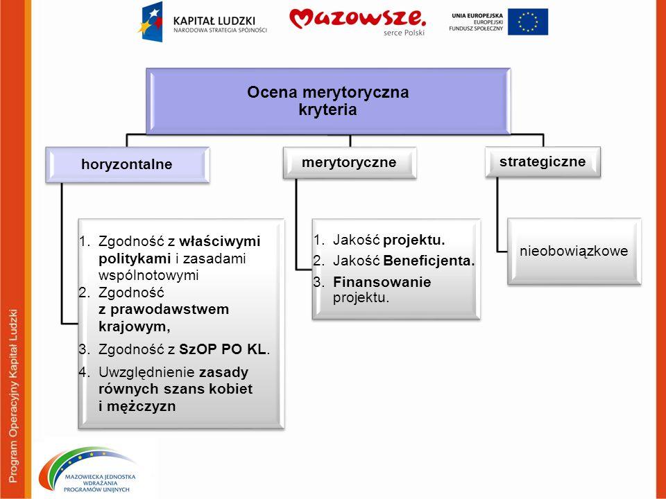 Ocena merytoryczna kryteria