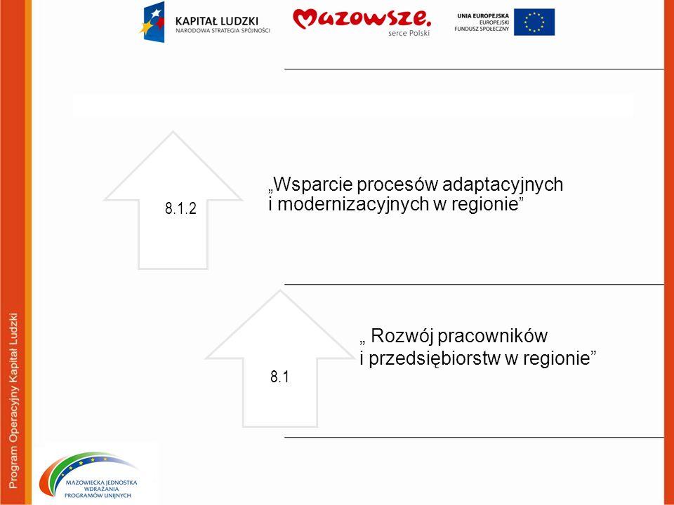 """""""Wsparcie procesów adaptacyjnych i modernizacyjnych w regionie"""