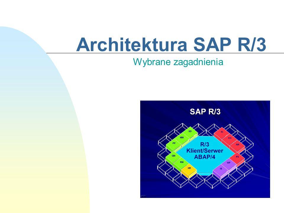 Architektura SAP R/3 Wybrane zagadnienia