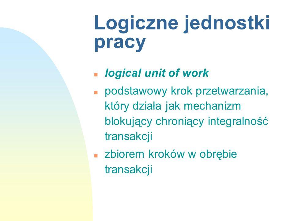 Logiczne jednostki pracy