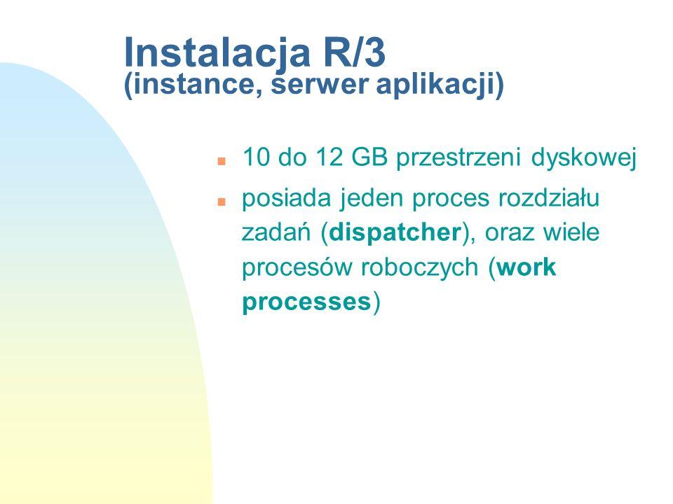 Instalacja R/3 (instance, serwer aplikacji)