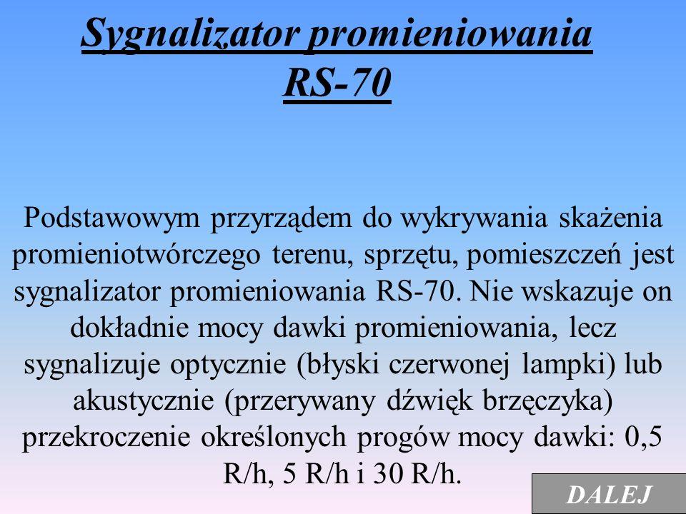 Sygnalizator promieniowania RS-70