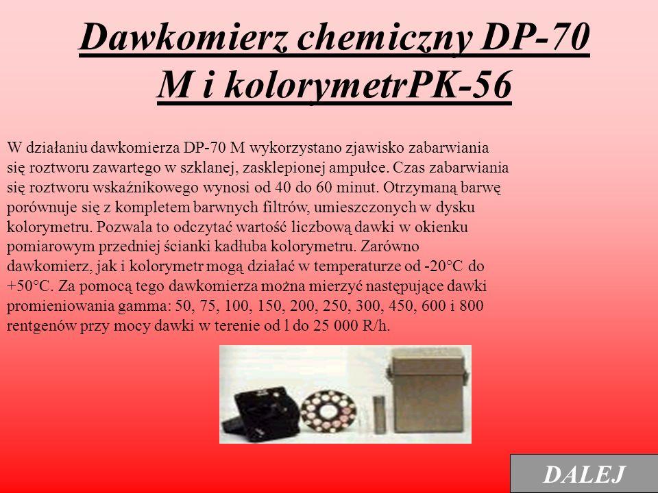 Dawkomierz chemiczny DP-70 M i kolorymetrPK-56
