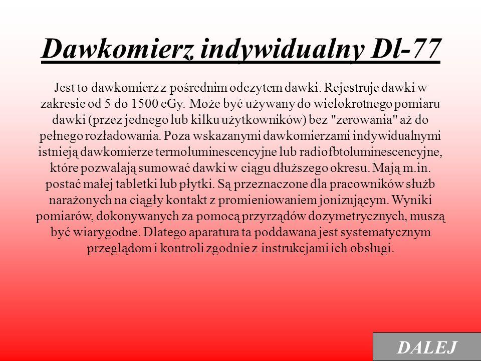Dawkomierz indywidualny Dl-77