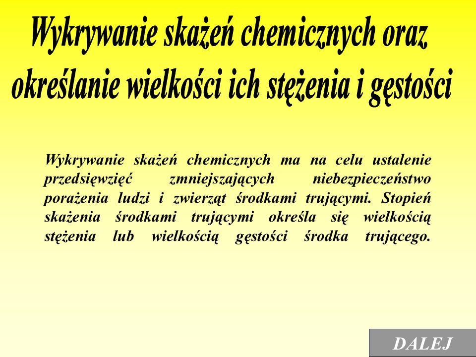 Wykrywanie skażeń chemicznych oraz