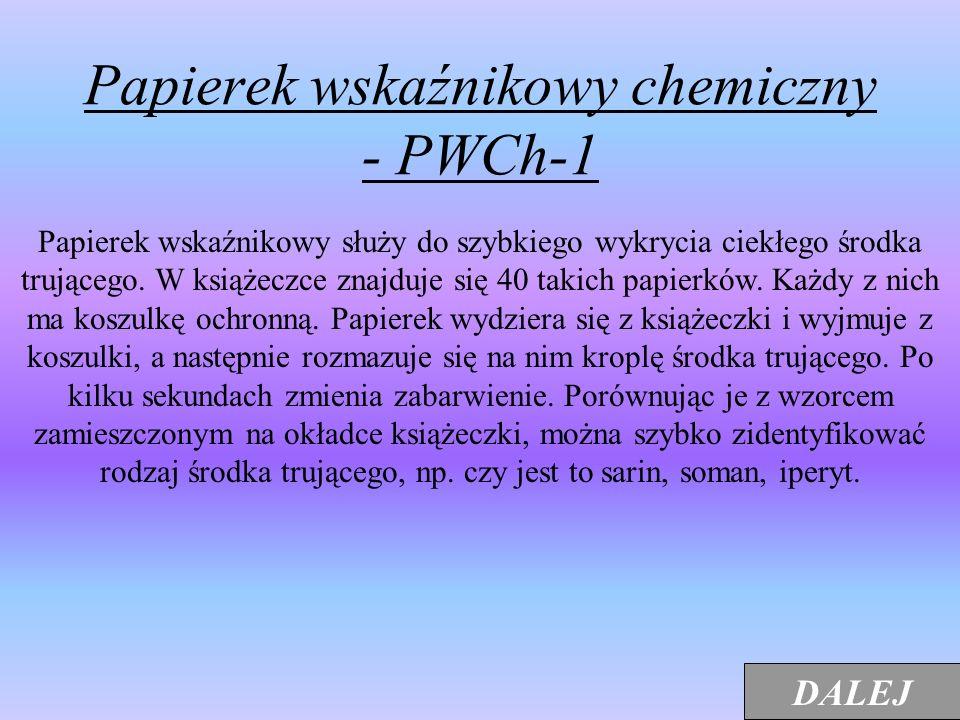 Papierek wskaźnikowy chemiczny - PWCh-1