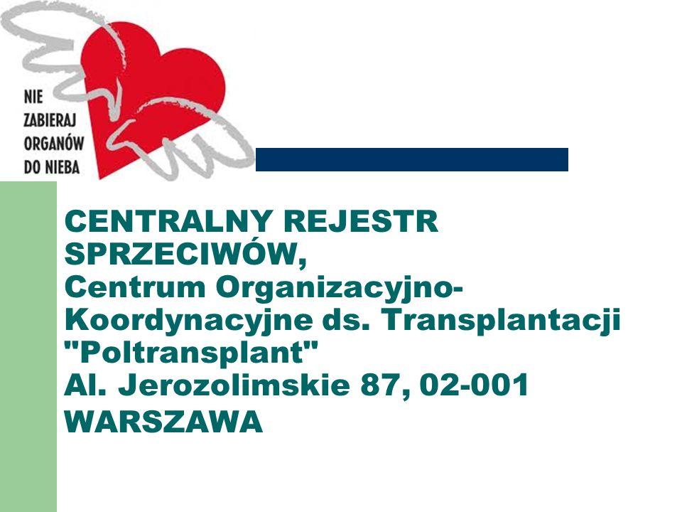 CENTRALNY REJESTR SPRZECIWÓW, Centrum Organizacyjno-Koordynacyjne ds