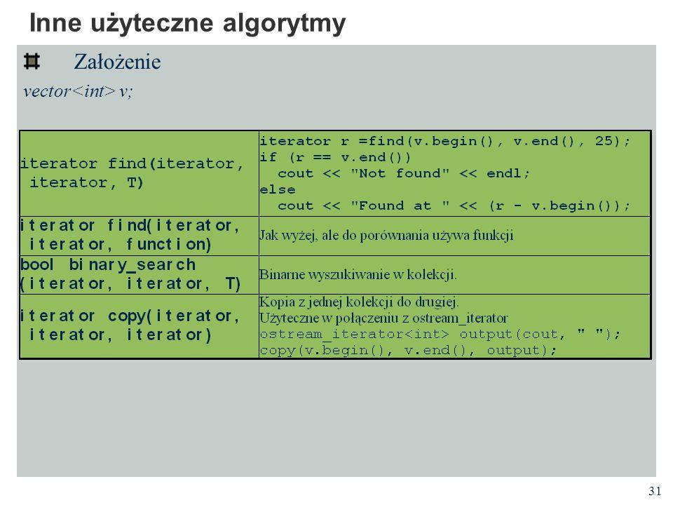 Inne użyteczne algorytmy