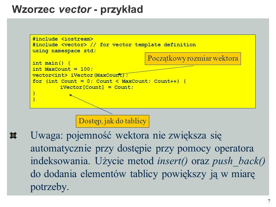 Wzorzec vector - przykład