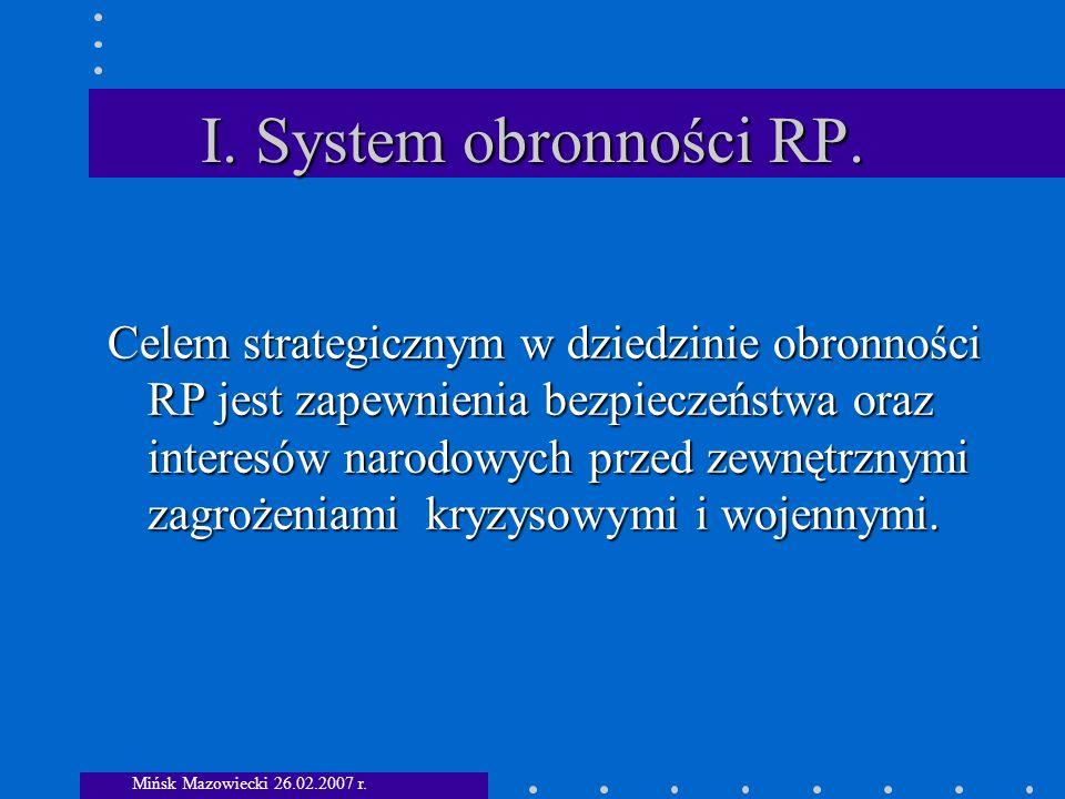 I. System obronności RP.