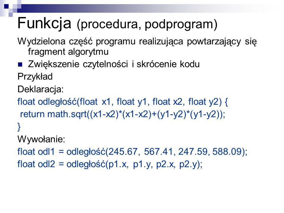 Funkcja (procedura, podprogram)
